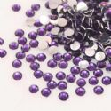 Jewel Embellishments, Resin, Dark purple, Faceted Discs, 4mm x 4mm x 1.2mm, 300  pieces, (ZSS069)